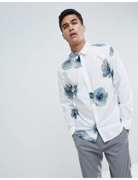 Selected Homme Shirt With Large Floral Print In Slim Fit by Selected Homme