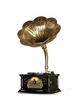 Grammophon Schallplattenspieler, 3 Geschwindigkeiten 33/45/78 U/Min Vinyl Plattenspieler Retro Unterstützung Cd Spieler Rca Ausgang (Farbe : Schwarz, Größe : Desktop) by Amazon