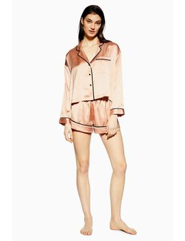 Pink Satin Pyjama Set by Topshop