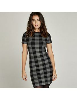 Apricot   Grey Gingham Check Print Knitted Dress by Apricot