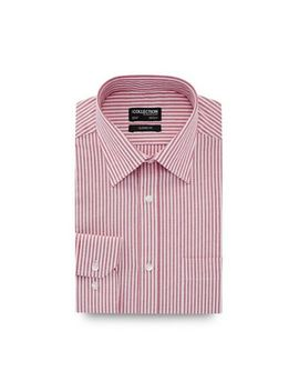 The Collection   Red Stripe Print Long Sleeve Classic Fit Oxford Shirt by The Collection