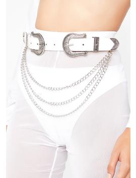 Pure Money Bags Double Buckle Belt by Fame Accessories
