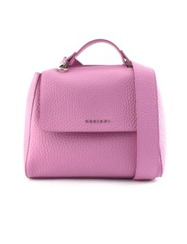 Orciani Sveva Small Pink Leather Handbag by Orciani
