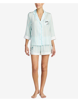 Contrast Trim Pajama Set by Blue By Betsey Johnson