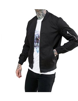 Dfine Men's Bomber Jacket With Sleeves And Zip by Dfine