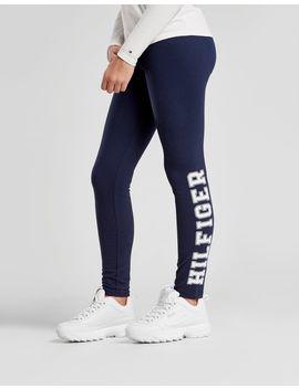 Tommy Hilfiger Girls' Side Logo Leggings Junior by Tommy Hilfiger