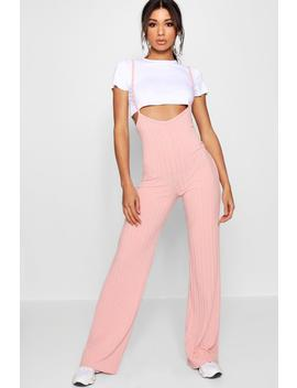 Crop T Shirt Strappy Jumpsuit Co Ord Set by Boohoo