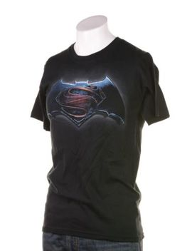 Batman Vs. Superman Men's Logo Graphic T Shirt Black Short Sleeve Crewneck S by Jem