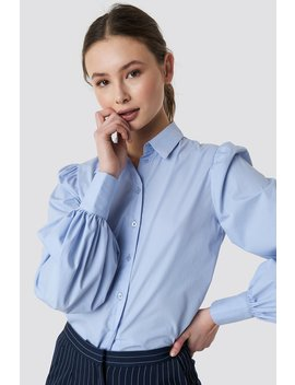 Balloon Sleeve Cotton Blend Shirt by Na Kd Classic