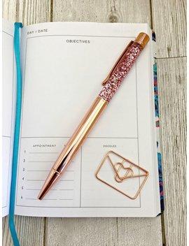 Rose Gold Floating Glitter Pen, Metallic Glitter Pen, Sparkle Pen, Bullet Journal Accessories, School Supplies, Stationary, Rose Gold Pen by Etsy