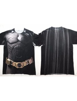 Batman Begins Costume Front And Back Sublimation Print Dc Comics T Shirt by Dc Comics