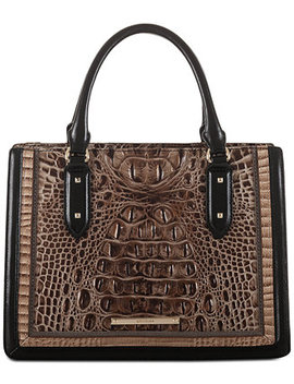 Camille Mitford Embossed Leather Satchel by Brahmin