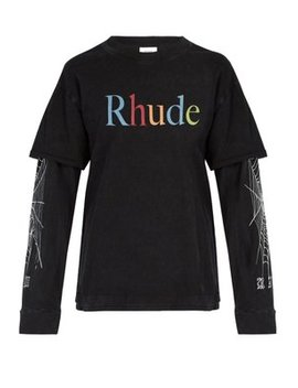 Logo Print Long Sleeved T Shirt by Rhude