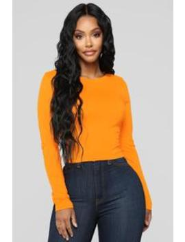 Cozy Crew Neck Tee   Amber by Fashion Nova