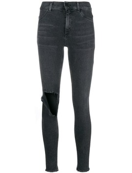 Distressed Skinny Jeans by Dondup