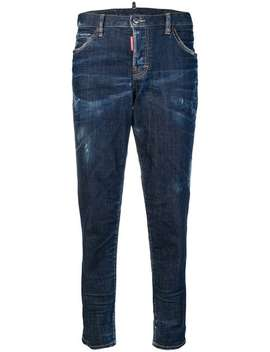Distressed Straight Leg Jeans by Dsquared2