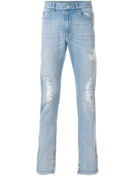Jeans Taglio Straight Con Strappi Decorativi by Mjb