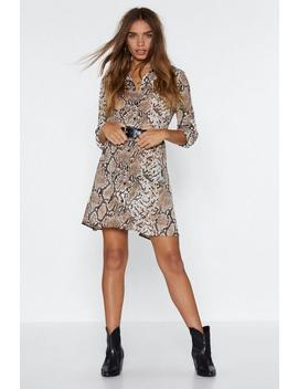 Time To Strike Snake Dress by Nasty Gal