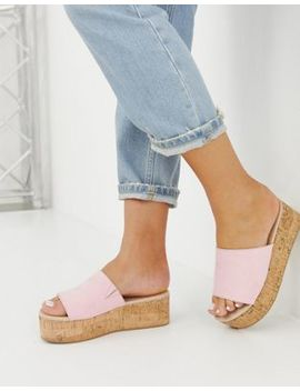 Asos Design Wide Fit Tillie Flatform Mules by Asos Design