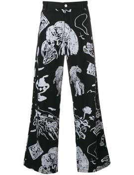Mid Rise Printed Trousers by Our Legacy
