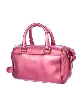 Metallic Leather Classic Baby Duffle Bag by Saint Laurent