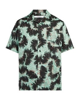 Urchin Print Short Sleeved Cotton Shirt by Givenchy