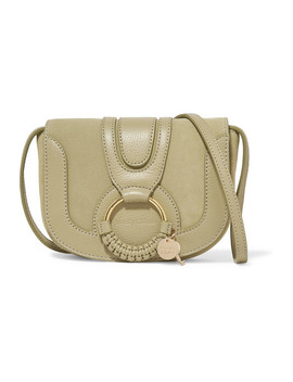 Joan Mini Textured Leather And Suede Shoulder Bag by See By Chloé