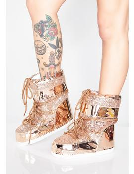 Rose Golden Journey To Mars Boots by Cape Robbin