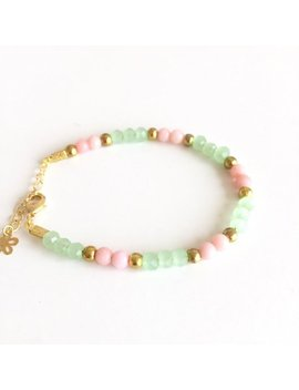 Pastel Beaded Candy Bracelet, In 14 K Gold Plated by Etsy