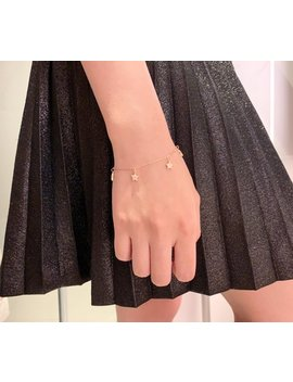 Mini Stars Charm Bracelet   925 Sterling Silver   Dainty Star Bracelet For Women   Gold, Silver Or Rose Gold Color by Etsy