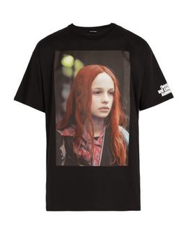 Christiane F. Photographic Print Cotton T Shirt by Raf Simons