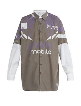 Mobile Print Cotton Shirt by Vetements