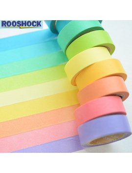 10 Rolls Rainbow Washi Tapes  Set / Washi Tape Ideas / Scrapbook Paper / Scrapbook Supplies / Room Decor / Agenda / Scrapbooking / Mask Tape by Etsy