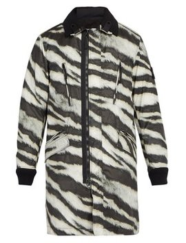 Tiger Print Detachable Fleece Technical Jacket by Stone Island