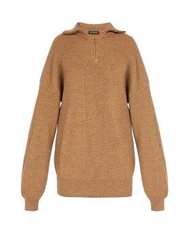 Half Zip Wool Blend Sweater by Balenciaga