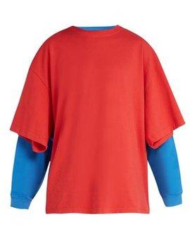 Double Layer Cotton T Shirt by Balenciaga