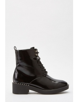Hi Shine Lace Up Ankle Boots by Everything5 Pounds