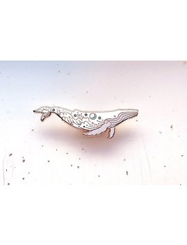 Star Surf Humpback Whale Enamel Pin (Sea And Sky) by Etsy