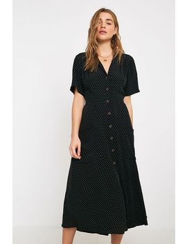 Uo Pindot Midi Shirt Dress by Urban Outfitters