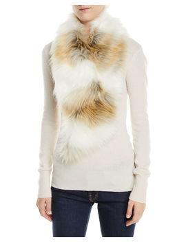 Clip Faux Fur Scarf by Neiman Marcus