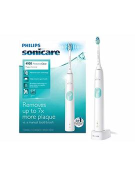 Philips Sonicare Protective Clean 4100 Plaque Control, Rechargeable Electric Toothbrush With Pressure Sensor, White Mint... by Philips Sonicare