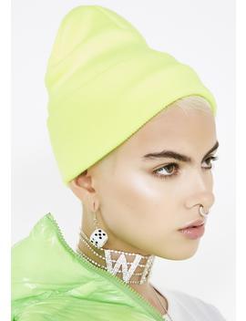 Slime Crime Neon Beanie by Impulse Fashion Accessories