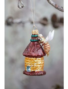 Busy Beehive Glass Ornament by Anthropologie