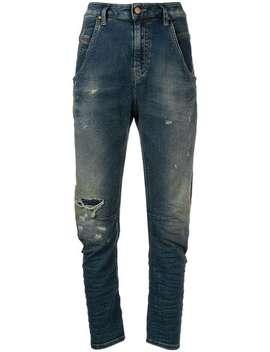 Faded Slim Fit Jeans by Diesel