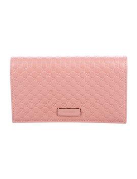 Micro Guccissima Wallet On Strap by Gucci