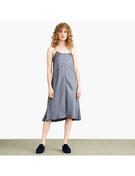 Nevereven Seamed Satin Slip Dress by J.Crew