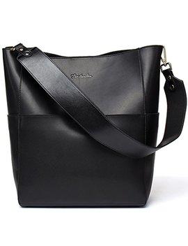 Bostanten Women's Leather Designer Handbags Tote Purses Shoulder Bucket Bags by Bostanten