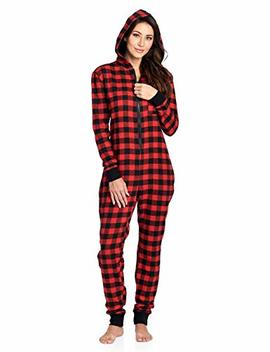 Ashford & Brooks Women's Flannel Hooded One Piece Pajama Union Jumpsuit by Ashford & Brooks
