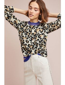 Sporty Leopard Sweater by Alcee