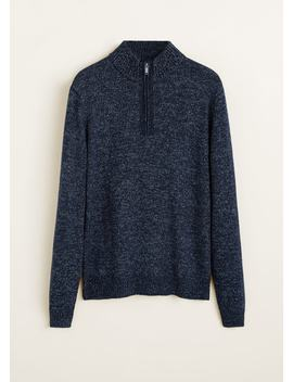 Zipped High Collar Sweater by Mango